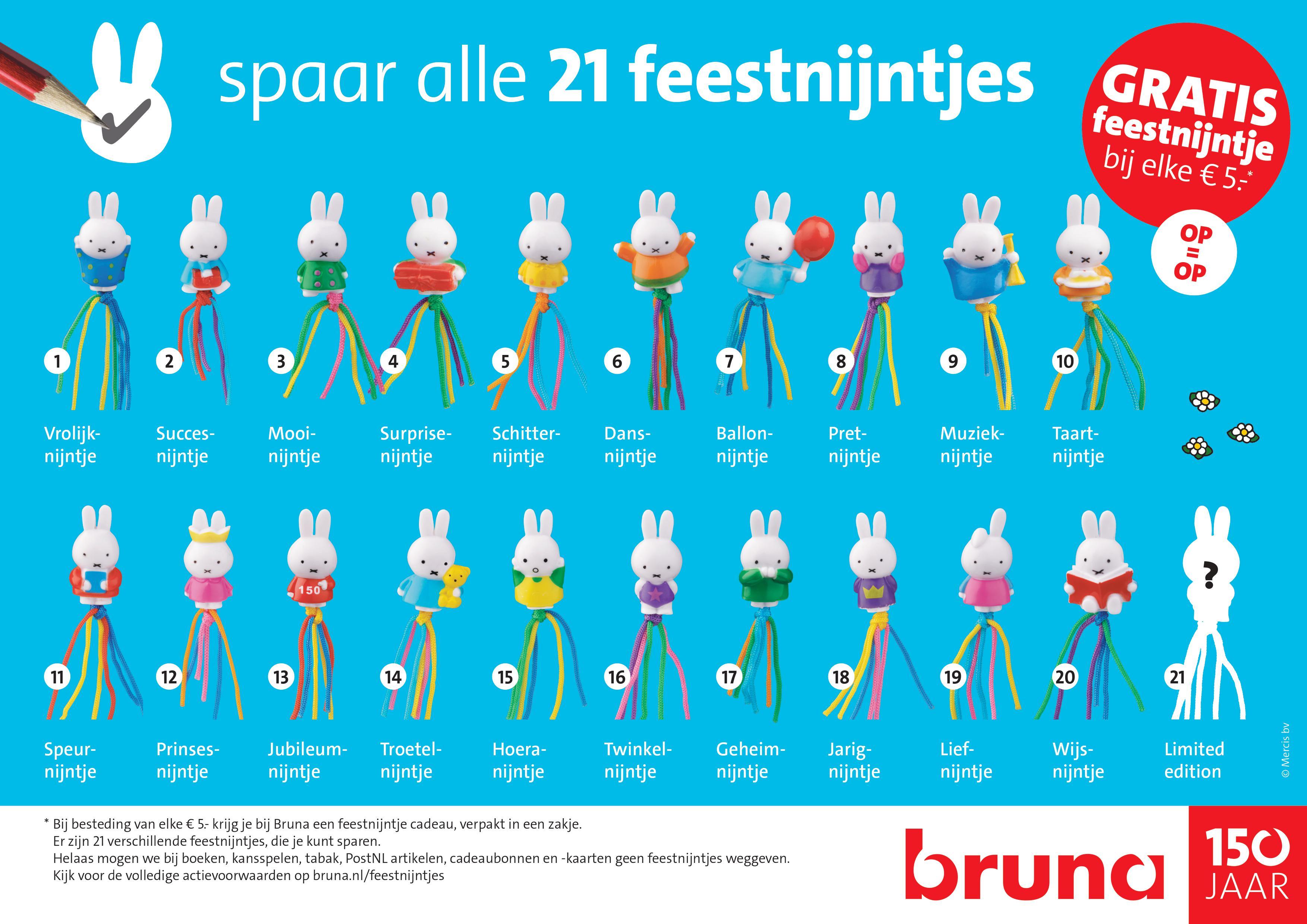 Gratis feestnijntjes bij iedere bestelling van €5 @ Bruna