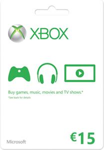 Xbox Live Gift Card 15 Euro voor €9,99 @ Media Markt