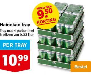Heineken bier 4 x 6 blikjes (0,33l)