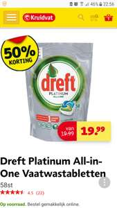 Dreft Platinum All-in-one regular 50% van 19,99 voor 9,99