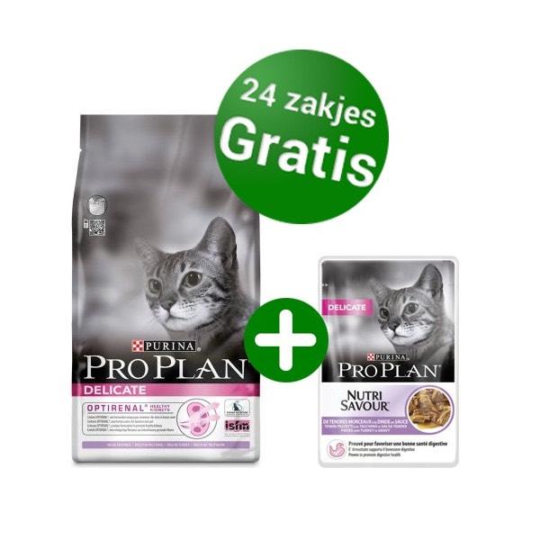 Gratis Pro Plan® natvoer bij aankoop van elke 10 kg zak Pro Plan® kattenvoer