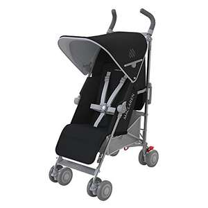 Maclaren quest buggy in zwart zilver