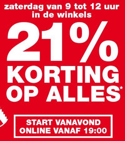 21% korting op alles* vrijdag online en zaterdag ook in winkel @ Praxis