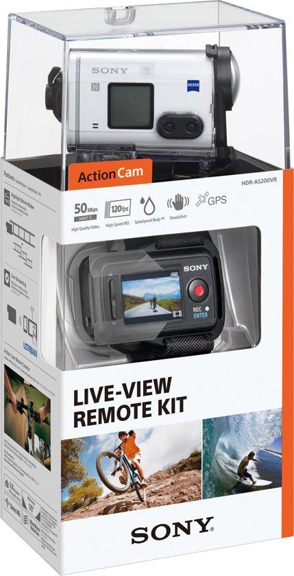 Sony AS200V + onderwater behuizing + Live-View-afstandsbediening wit @ ArtenCraft