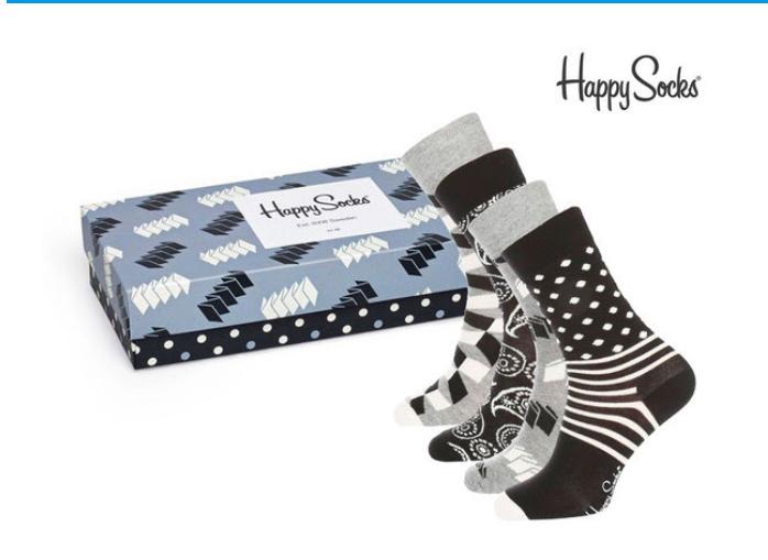 Happysocks giftpack 4 paar voor eur 19,95