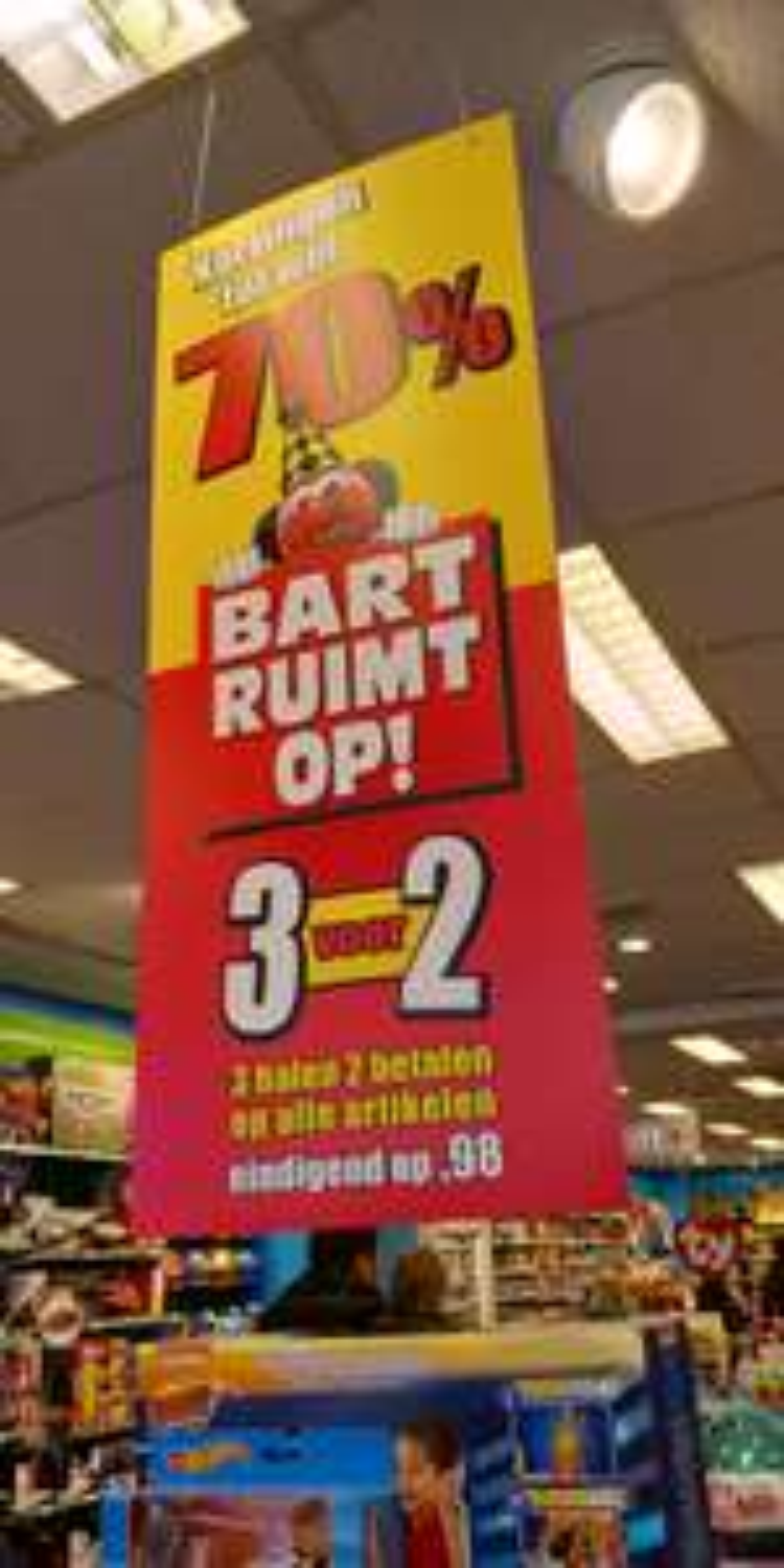 3 halen 2 betalen op alle prijzen die eindigen op ,98 @ Bart Smit