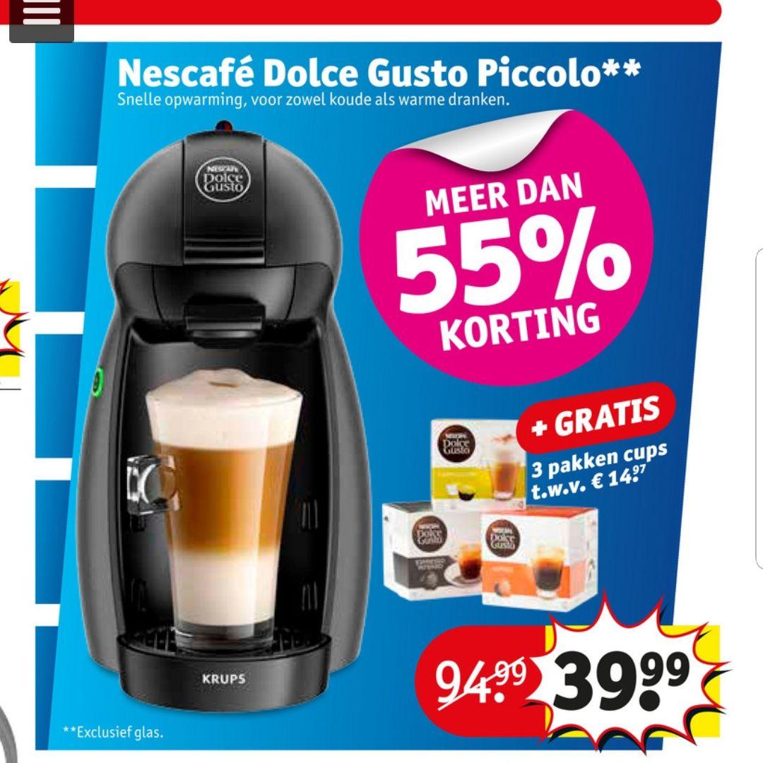 Nescafé Dolce Gusto Piccolo + 3 pakken Dolce Gusto cups @Kruidvat