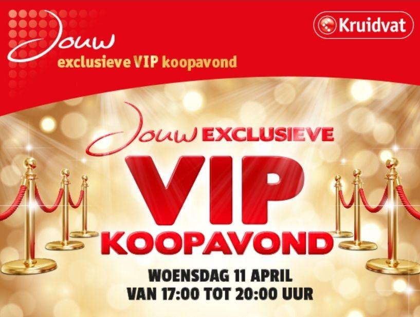 VIP Koopavond op woensdag 11 april @Kruidvat BE: -20% op 2 artikelen