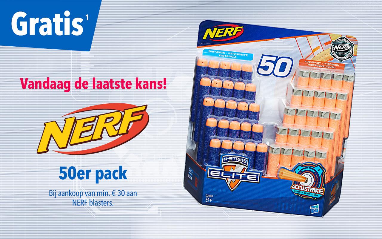 Gratis NERF navulpak t.w.v. €19,99 bij aankoop vanaf €30 @ Toysurus