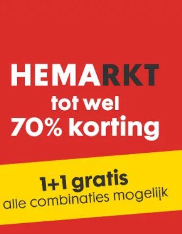 Hemarkt - 1+1 GRATIS @ HEMA