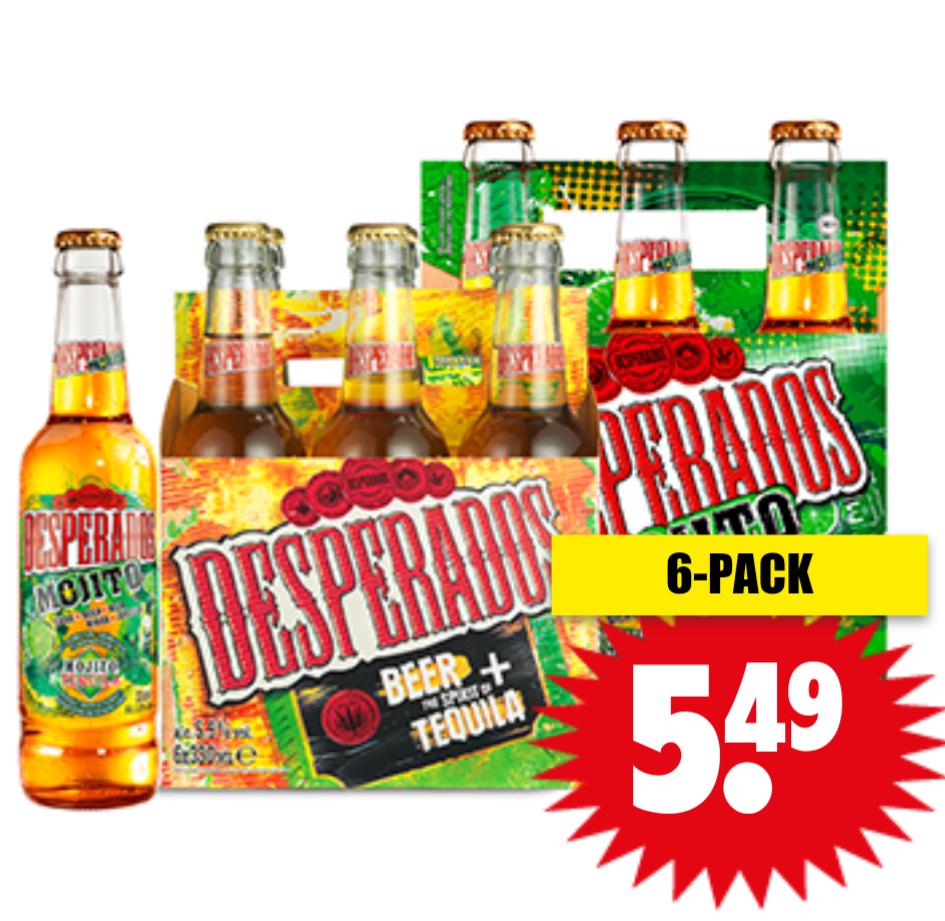 6 pack desperados 0,33 liter @Dirk