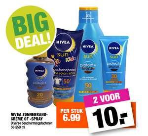 NIVEA Sun 2 voor €10 (of €6.99 ps.) @Big Bazar