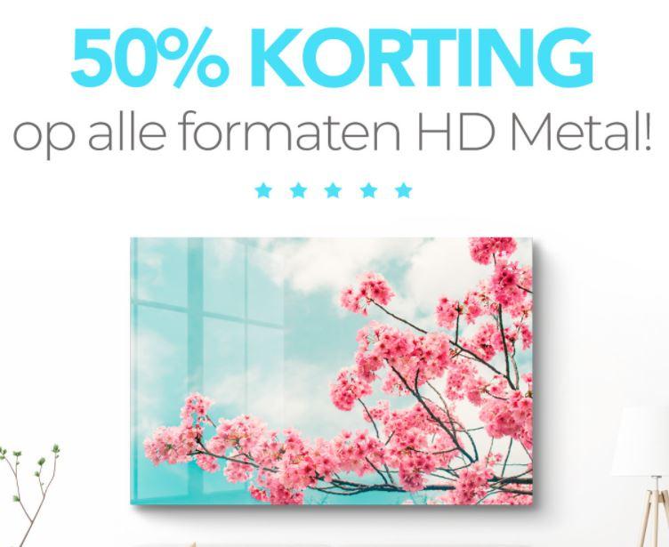 HD Metal - alle formaten 50% korting @ Herinneringen op Linnen