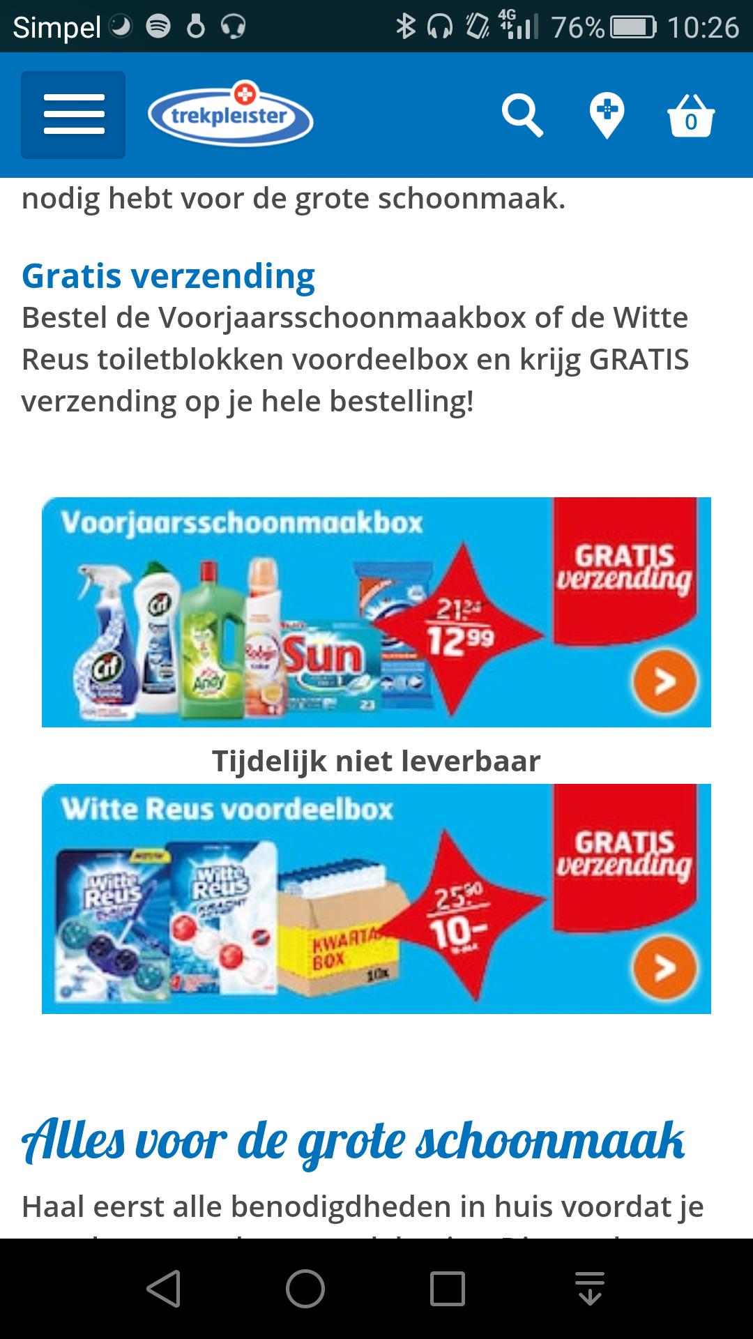 Schoonmaakbox voor 12,99+ gratis verzending @trekpleister