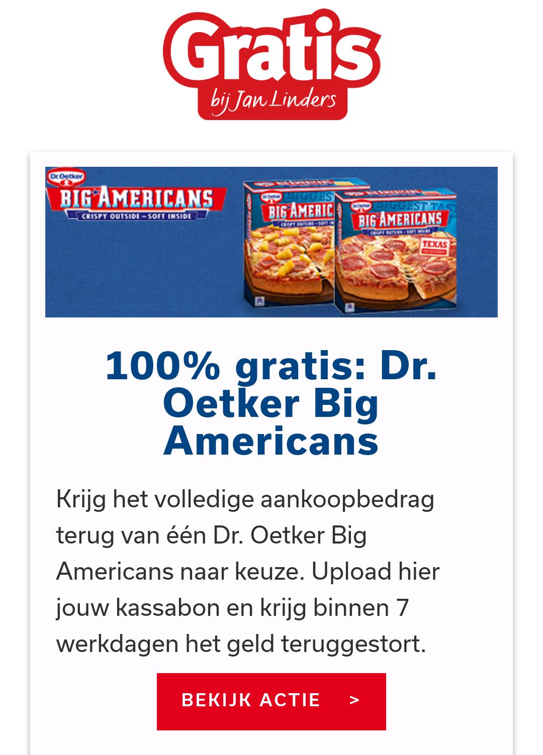 Gratis Dr. Oetker Big Americans