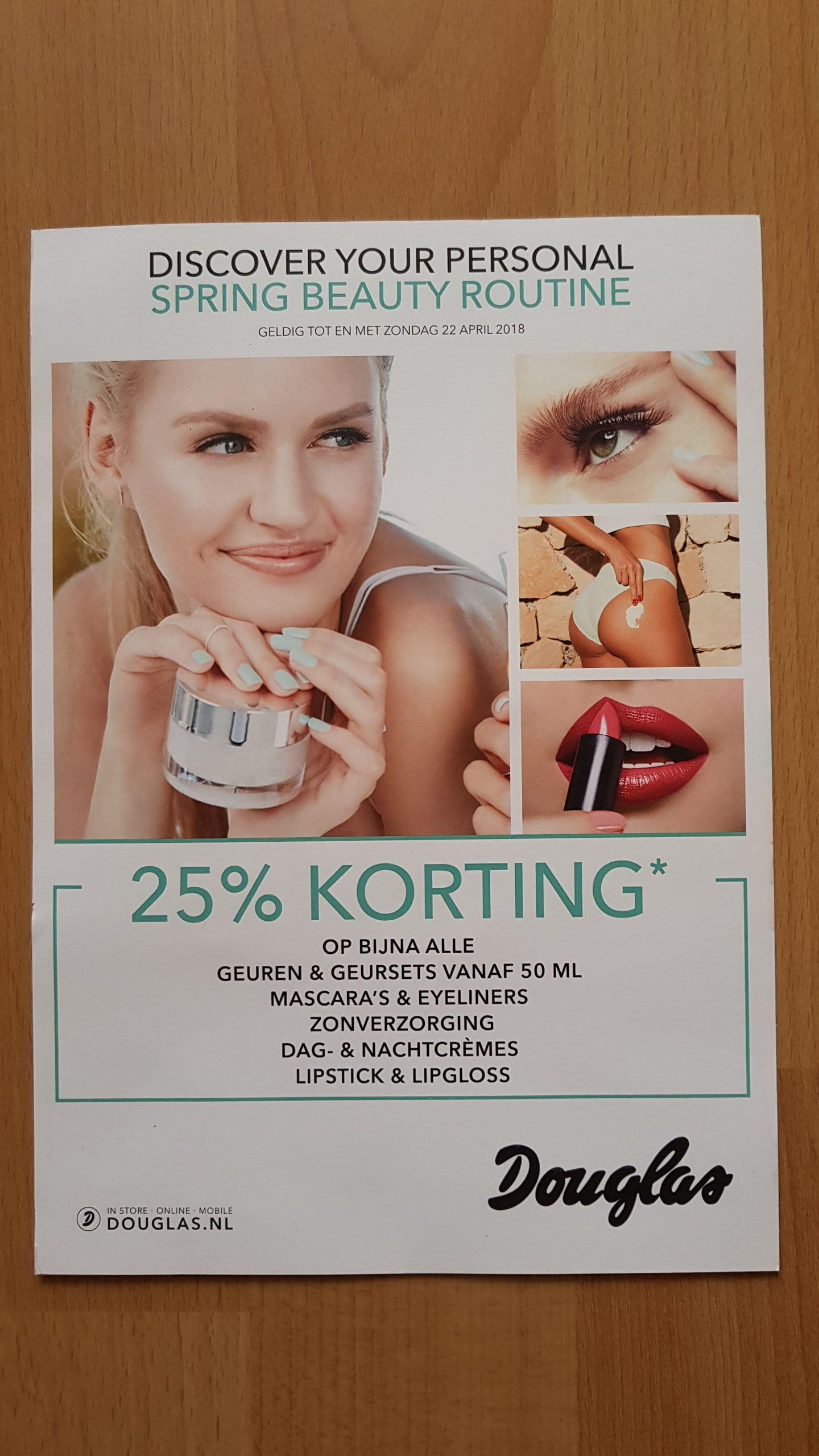 25% korting @douglas