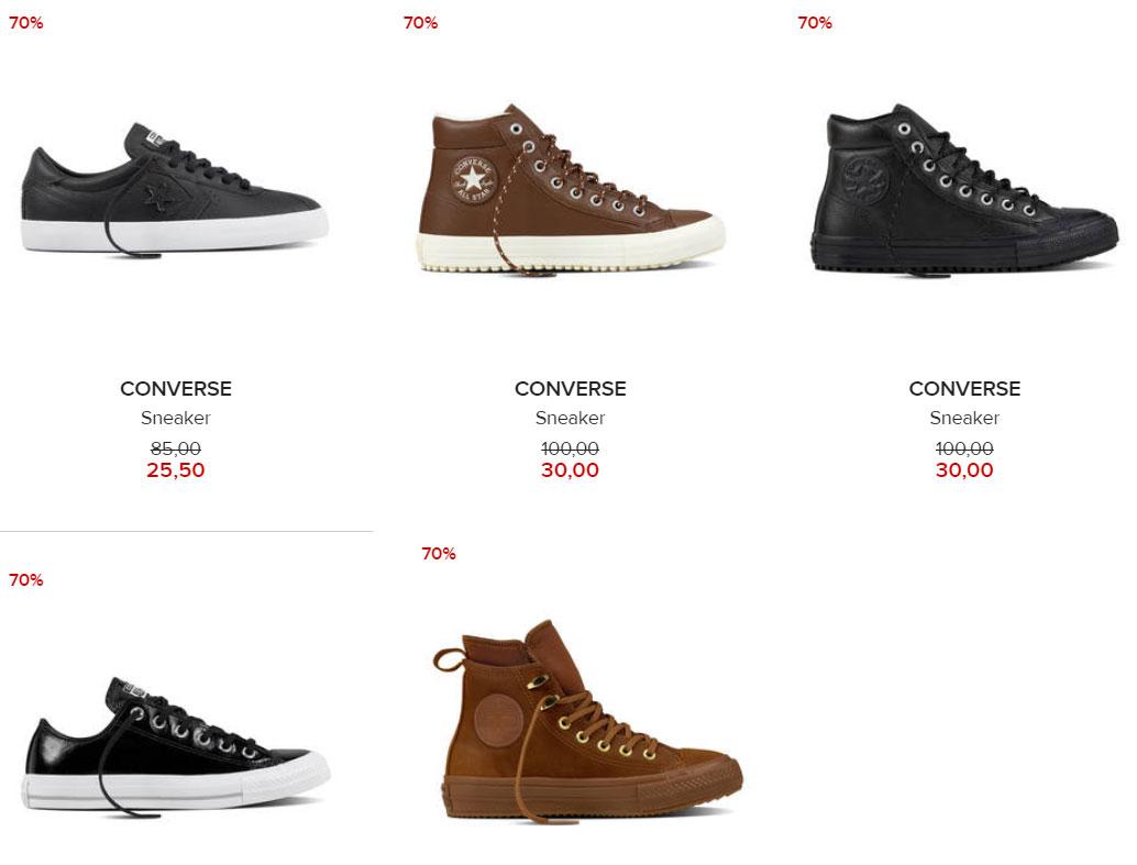 Laatste modellen en maten Converse sneakers -70% @ Hudson's Bay