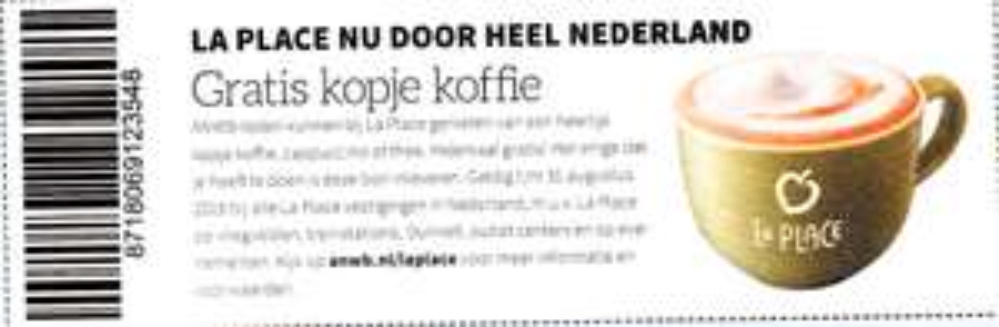 """Gratis Koffie, Cappuccino of Thee bij La Place met bon uit de """"Kampioen"""" @ La Place"""