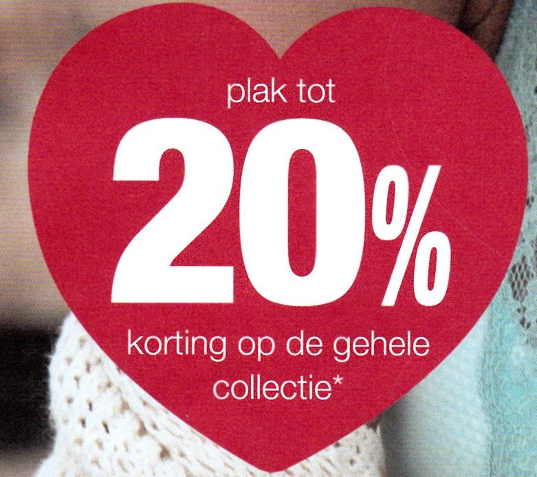 (Ook online) korting op gehele collectie* 2 x 20% en  2 x 15% @ Livera