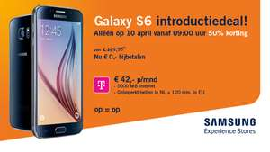 Galaxy S6 voor 42 euro/maand @ Phone House (10 april)