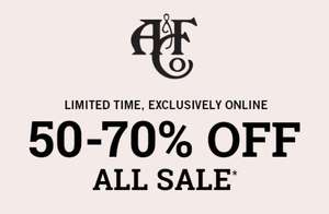 Actie: alle sale 50-70% korting + 10% extra met code @ Abercrombie & Fitch