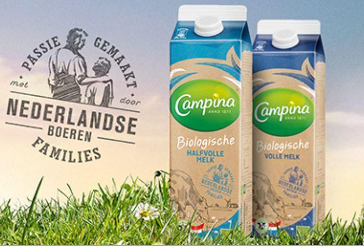 Probeer gratis Campina biologische melk 1L @ Eurosparen (persoonlijke geld-terug-actie)