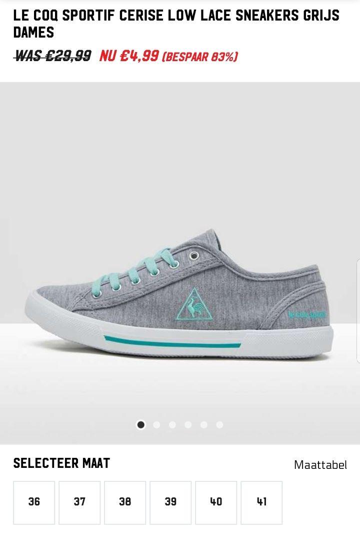 Le coq sportif cerise low lace sneakers grijs dames