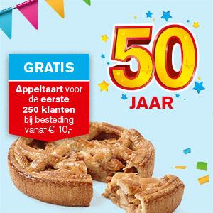 Gratis Appeltaart bij aankoop € 10,- eerste 250 klanten, zaterdag @ Hoogvliet
