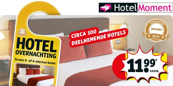Overnachten in een 3- of 4-sterren hotel voor €11,99 @ Kruidvat (vanaf dinsdag)