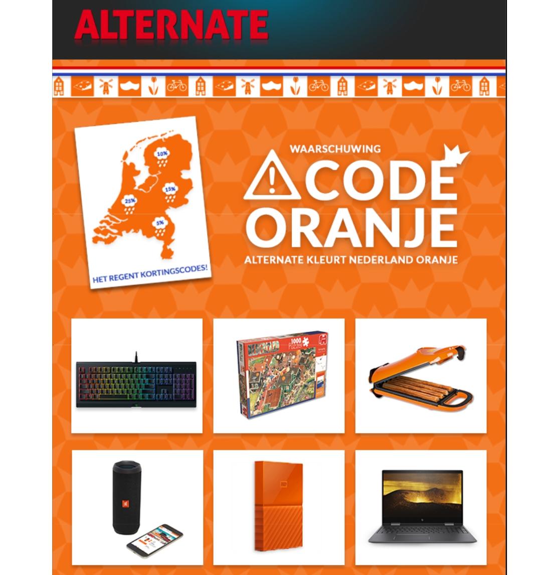 Code Oranje aanbiedingen @ Alternate