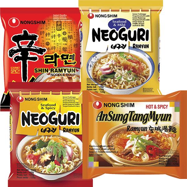 Nongshim instant noodles. -31%. 0,69eur. @ Amazing Oriental