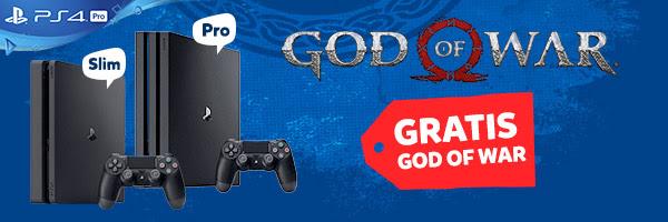 Gratis God of War bij aankoop van een PS4 console @ Intertoys