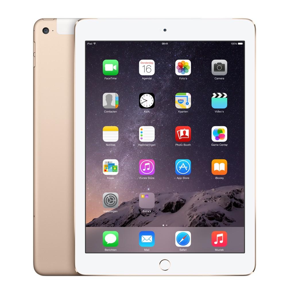 Apple iPad Air 2 128GB (Wi-Fi + Cellular) - Goud € 399,00
