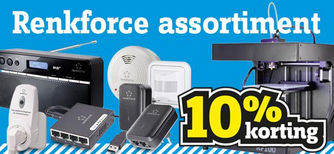 10% korting op alle Renkforce producten @ Conrad