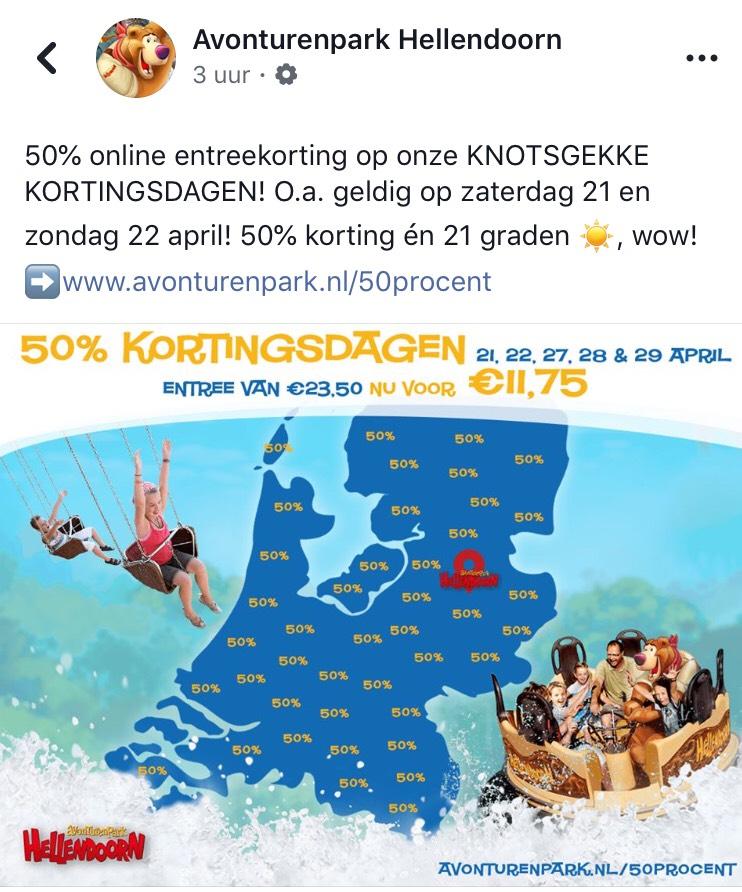 Voor €11,75 naar avonturenpark Hellendoorn