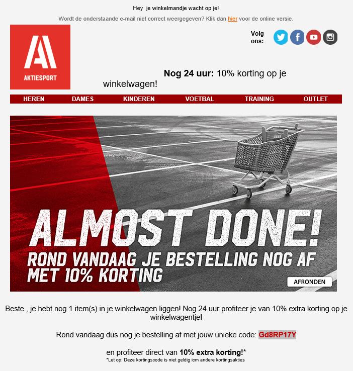 Aktie Sport 10% kortingscode