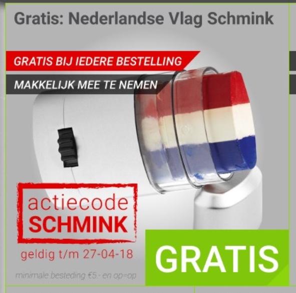 Gratis Nederlandse Vlag Schmink bij iedere bestelling @ Megekko.nl
