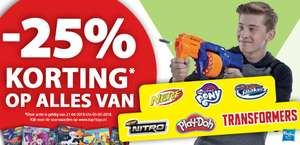 25% korting op alles van Nerf, My Little Pony, Play-Doh en Transformers! @Top1Toys