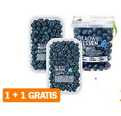 AH Bonus: Blauwe Bessen. 1+1 gratis. -50%. 2x bakjes a 300g voor 5eur. 8,32eur/kg