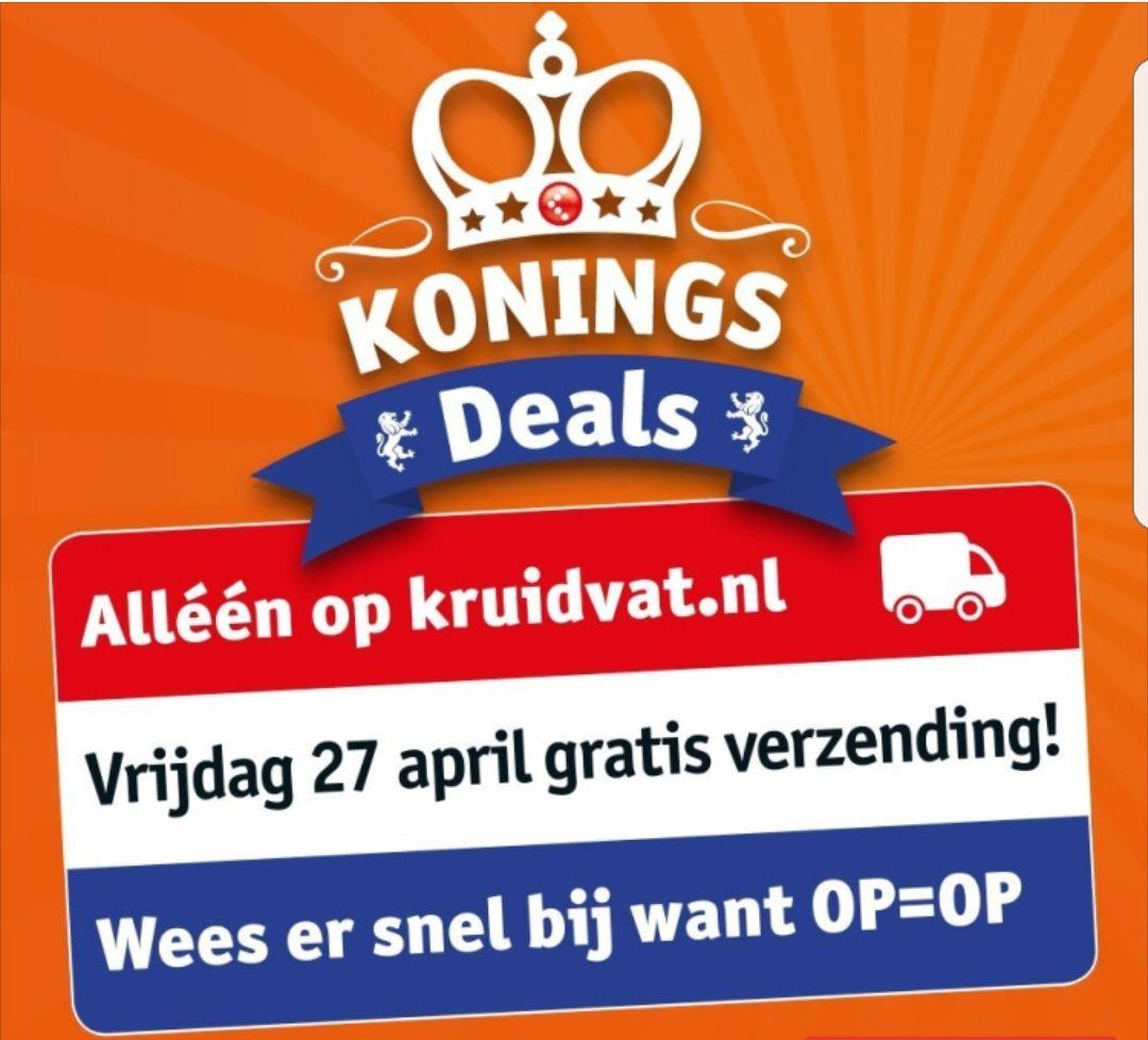 Koningsdag gratis verzending @ Kruidvat en @ Trekpleister