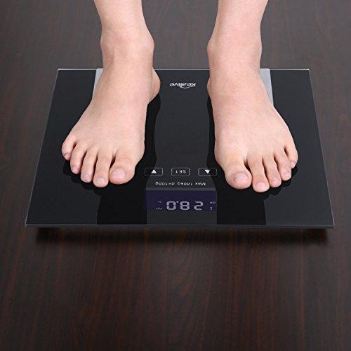 Elektronische Körperfett-Skala Körperfett-Prüfvorrichtung und Monitor @Amazon.de