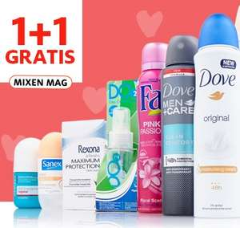 Alle deodorant 1+1 gratis @ Etos