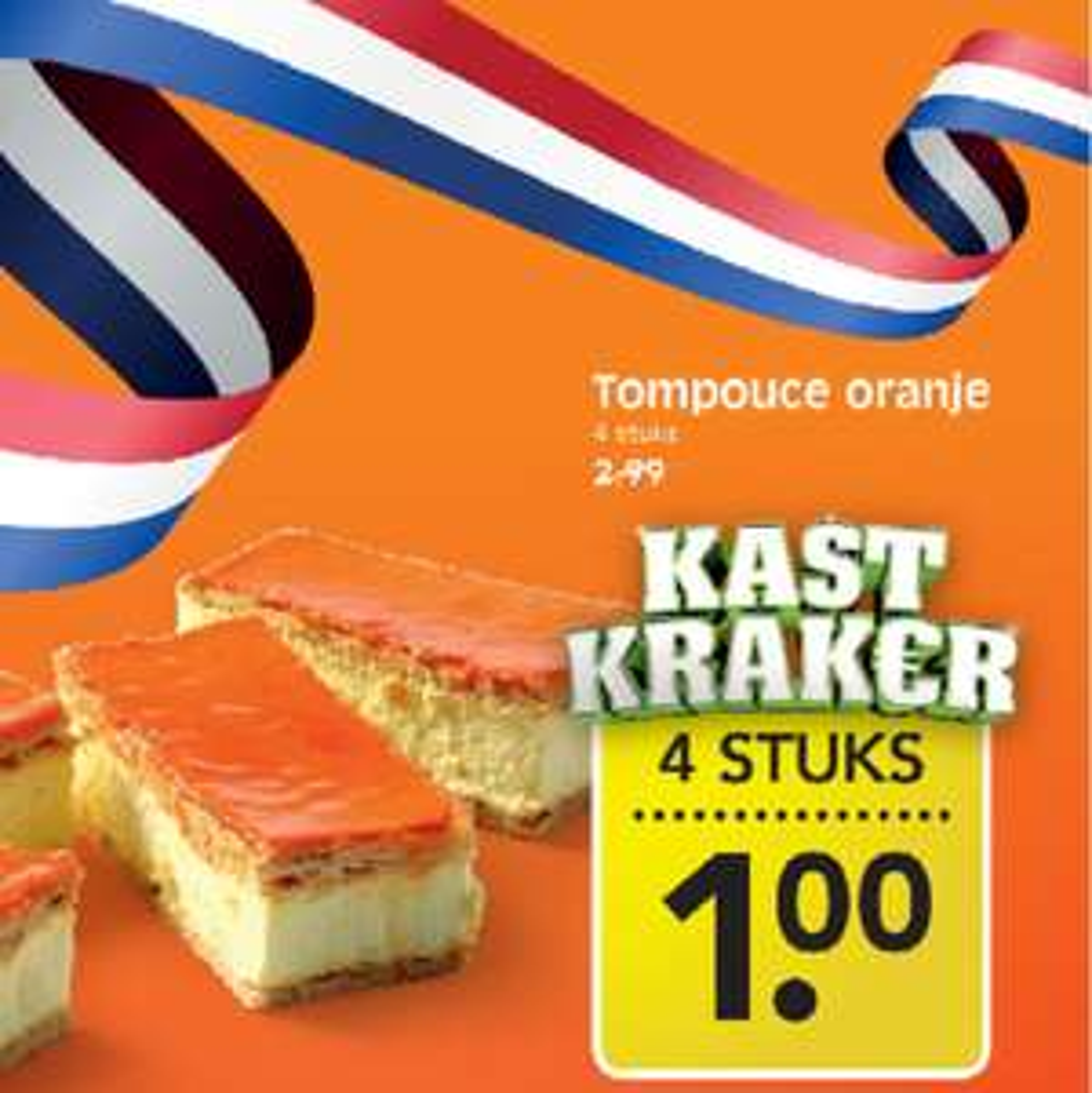 4 oranje tompoucen voor €1 @ EMTÉ