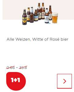 Alle Weizen, witte of rosé bier 1 + 1 gratis bij de PLUS