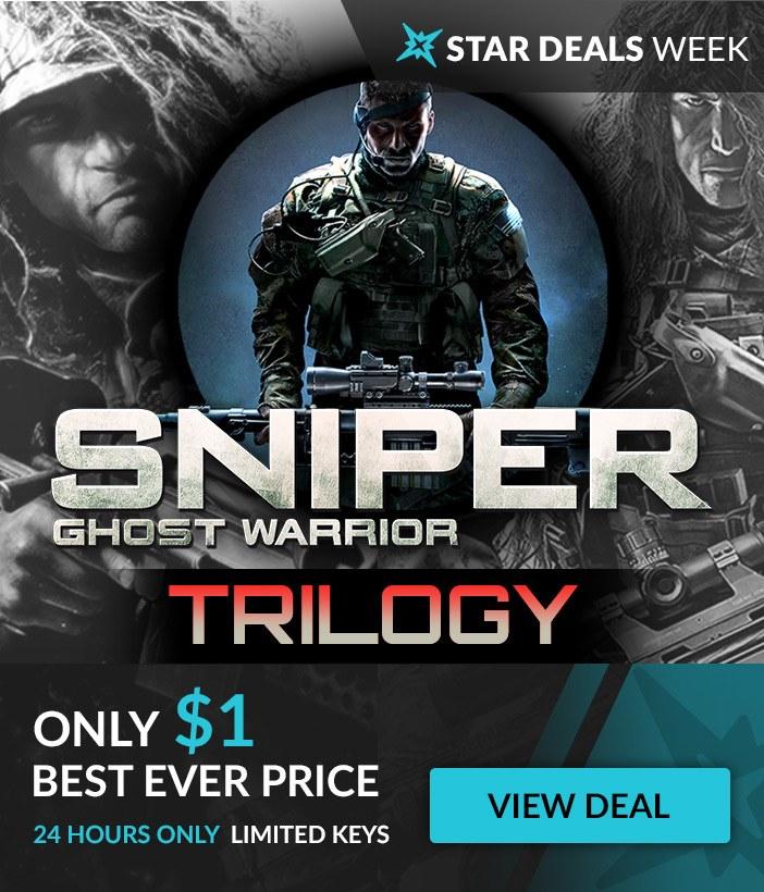 Sniper: Ghost Warrior Trilogy voor €0,95 @ Fanatical