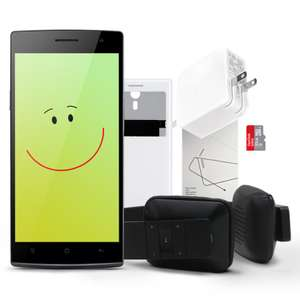 OPPO Find 7a met iLike Bluetooth Hoofdtelefoon + Easy Cover Case + 32GB Sandisk SD Kaart + Fast Charger Lader + Beschermfolie voor €349,- @ OPPO Store