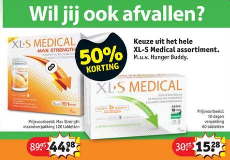 XL-S Medical met 50% korting @ Kruidvat