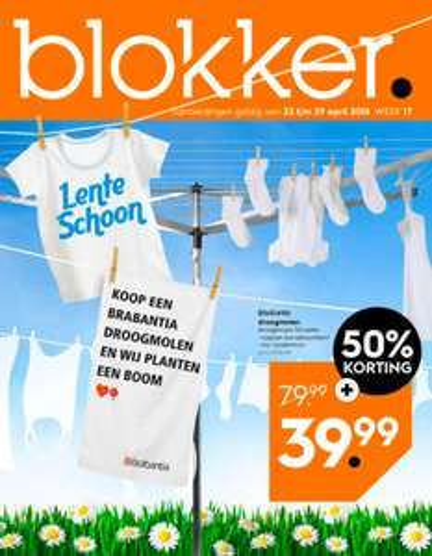 Brabantia droogmolen 50% korting