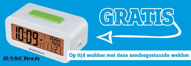 Gratis Basetech KW-9330 wekker bij je bestelling vanaf €50 @ Conrad