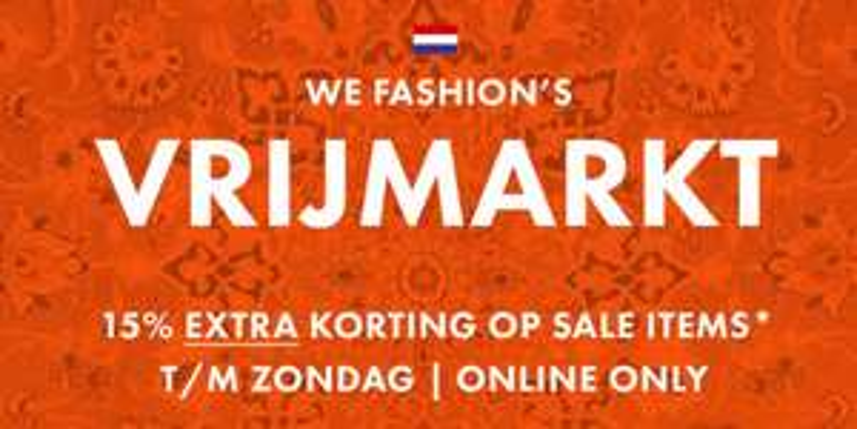 Actie: 15% extra korting op de sale @ We Fashion
